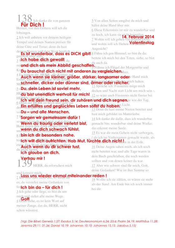 Schön Liebesbrief Von Gott_Für DICH_2014